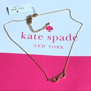 Kate spade lookout gold glasses necklace